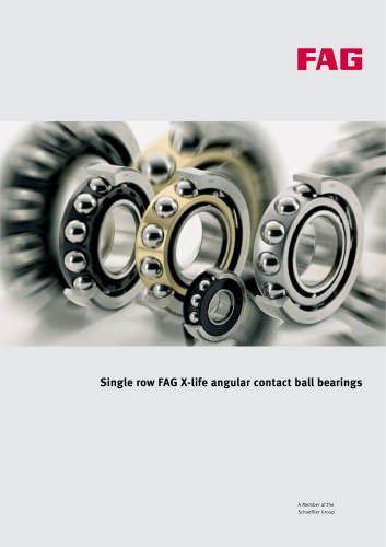 Single row FAG X-life angular contact ball bearings