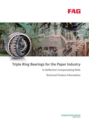 Triple Ring Bearings for the Paper Industry In Deflection Compensating Rolls