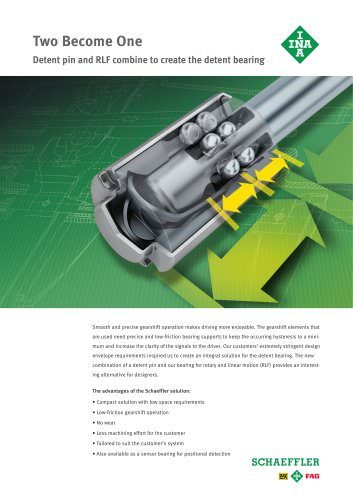 Two Become One Detent pin and RFL combine to create the detent bearing