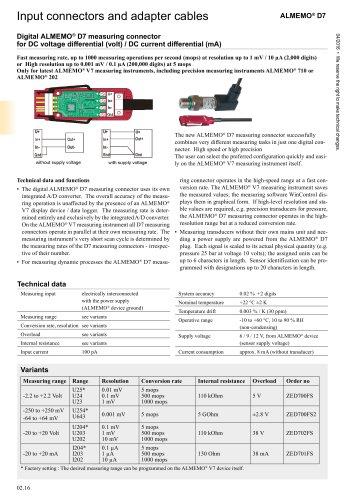 Digital ALMEMO ®  D7 measuring connector