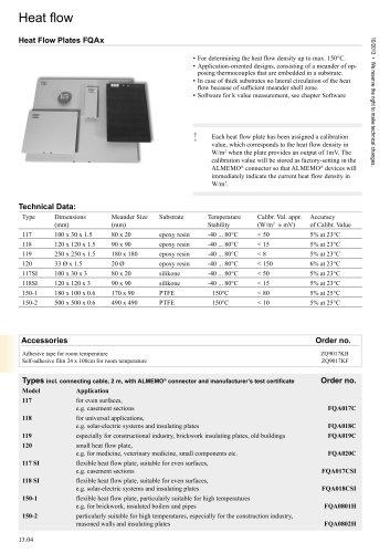 Heat Flow Plates FQAx