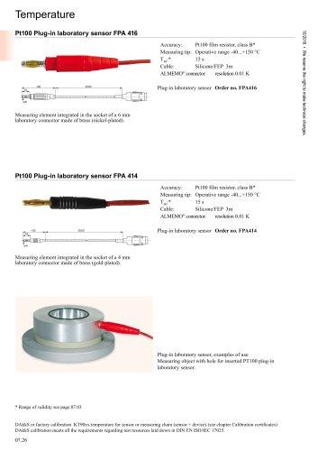 Pt100 Plug-in laboratory sensor