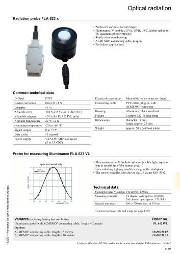 Radiation probe FLA 623 x
