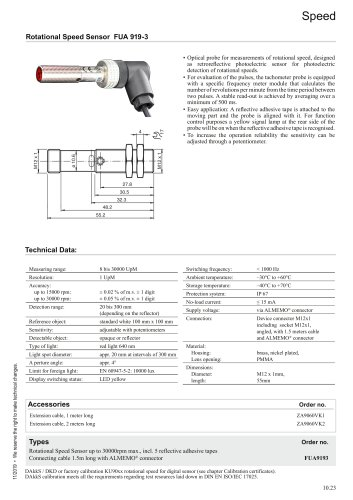 Rotational Speed Sensor FUA 919-3
