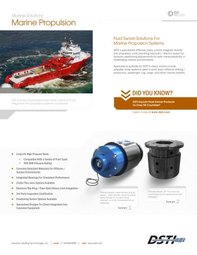 DSTI Sell Sheet - Marine Propulsion