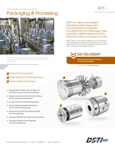 Packaging & Processing Brochure