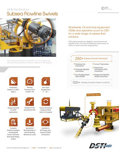 Subsea Flowline & Jumper Systems Brochure