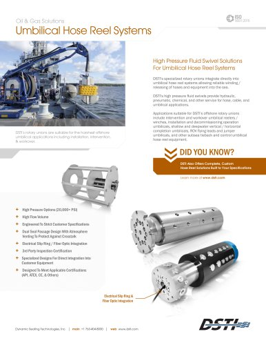 Umbilical Hose Reel Systems Brochure