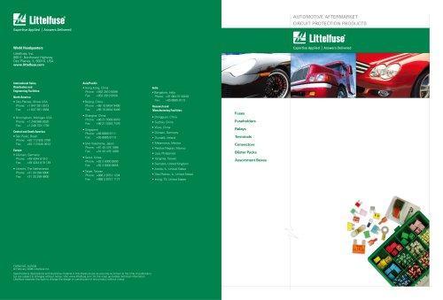 Littelfuse International Automotive Aftermarket Catalog