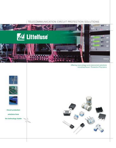 Littelfuse Telecommunications Circuit Protection Solutions Catalog
