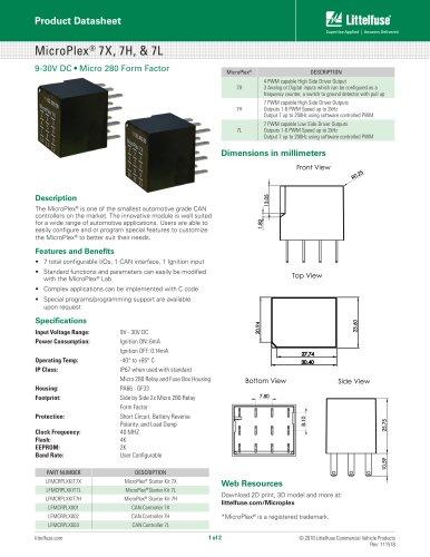 MicroPlex® 7X, 7H, & 7L