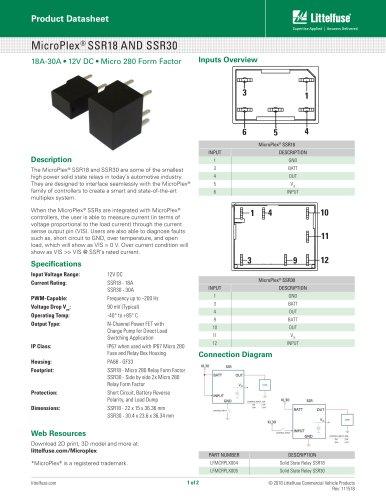 MicroPlex® SSR18 AND SSR30