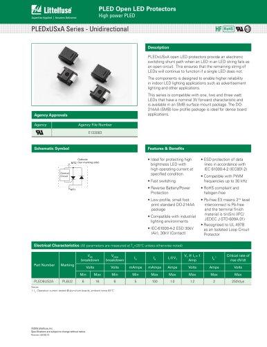 PLEDxUSxA Series - Unidirectional
