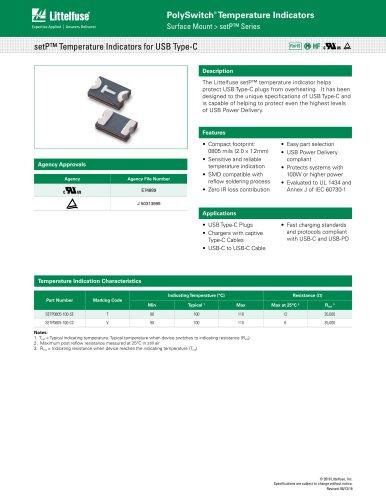 setP™ Temperature Indicators for USB Type-C