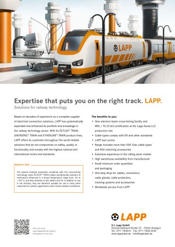 Solutions for railway technology