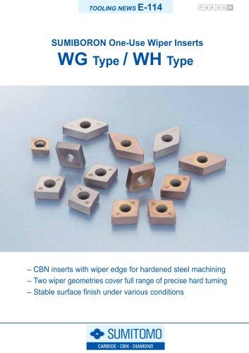 WG / WH Type SUMIBORON One-Use Wiper Inserts