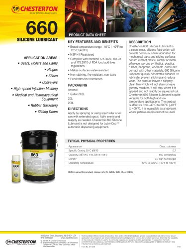 660 silicone lubricant