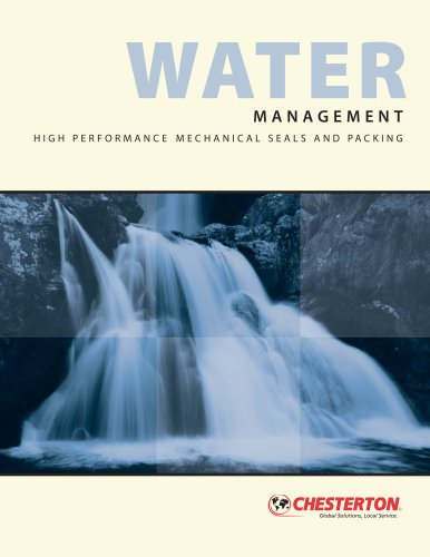 Water Management, High performance mechnaical seals and packaging