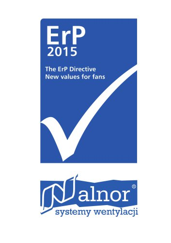 Overview of fans & accesories - ERP 2015