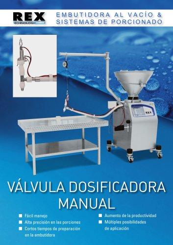 Válvula dosifaicadora manual