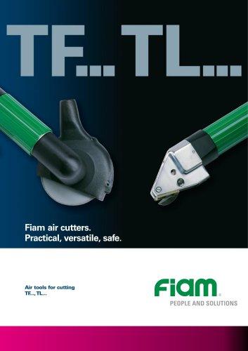 Air cutters for fiberglass and metal sheet