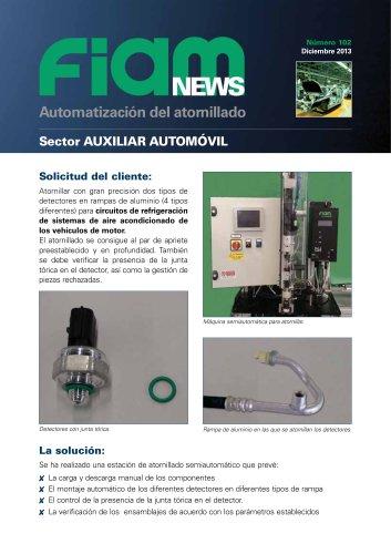 Atornillar detectores en rampas de aluminio
