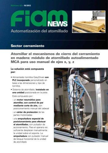 Maquina de atornillado semi-automatica por sector cerramiento