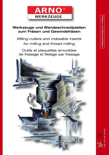Milling cutters and indexable inserts for milling and thread milling