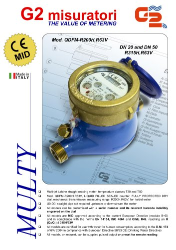 Mod. QDFM-R200H,R63V