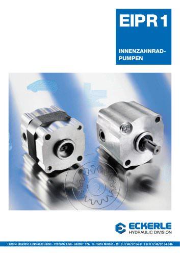 High Pressure Internal Gear Pumps EIPR 1