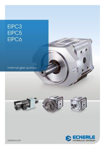 Internal gear pumps EIPC 3, 5, 6
