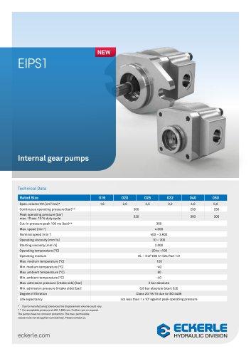 Internal gear pumps EIPS1