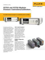 8270A and 8370A Modular Pressure Controllers/Calibrators