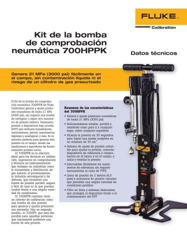 Kit de la bomba de comprobación neumática 700HPPK