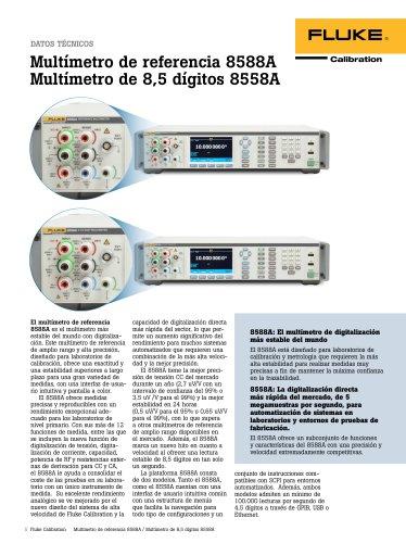 Multímetro de referencia 8588A Multímetro de 8,5 dígitos 8558A