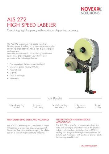 ALS 272 High Speed Labeler