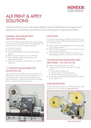 ALX 73x series product brochure