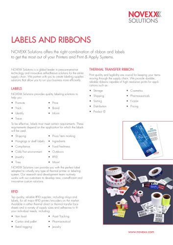 Labels and Thermal Transfer Ribbons