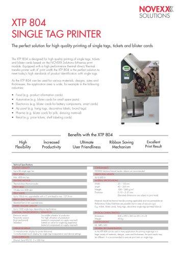 XTP 804 product brochure