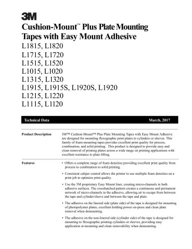 3M™ Cushion-Mount™ Plus Tapes with E-Series Adhesive