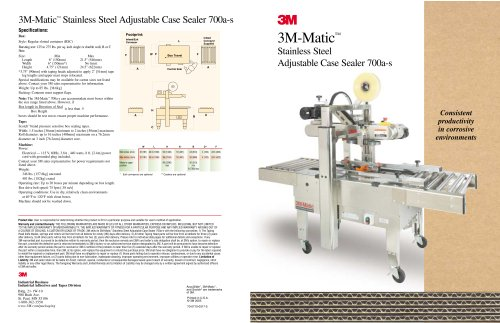 3M-Matic Stainless Steel Adjustable Case Sealer 700a-s