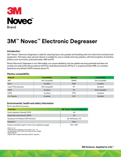 3M™ Novec™ Electronic Degreaser