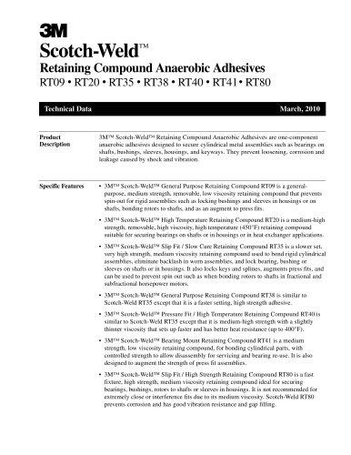 Retaining Compound Anaerobic Adhesives