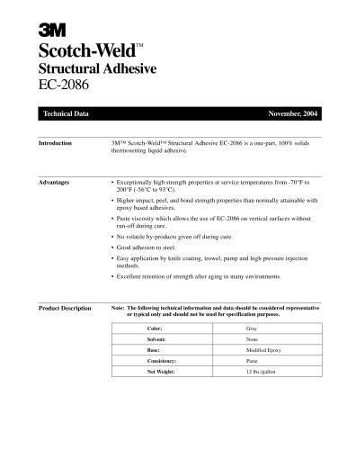 Scotch-Weld TM Structural Adhesive EC-2086