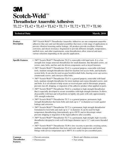 Threadlocker Anaerobic Adhesives
