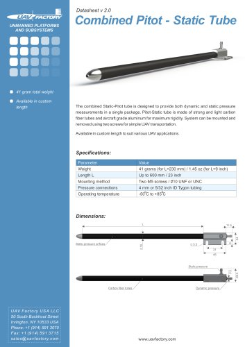 Combined Pitot-Static tube