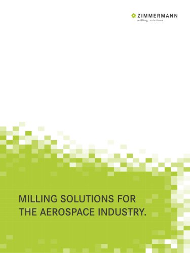 Zimmermann brochure for the Aerospace Industry