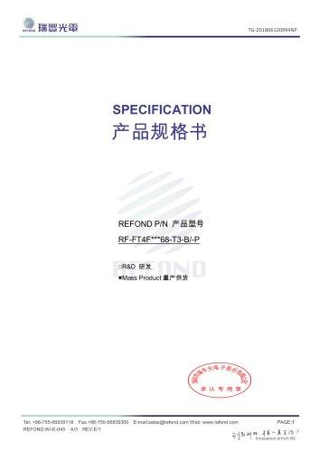REFOND P/N 产品型号 RF-FT4F***68-T3-B/-P
