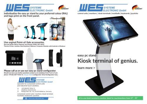 easy pc stand - kiosk terminal of genius.
