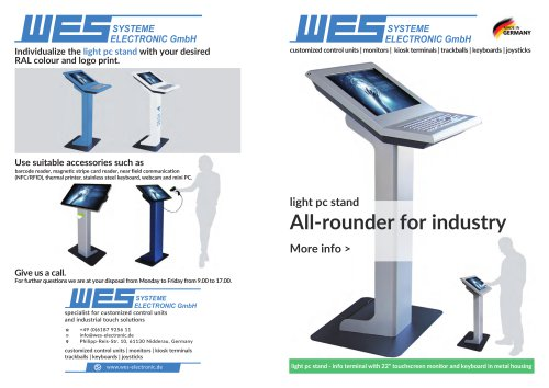 light pc stand All-rounder for industry